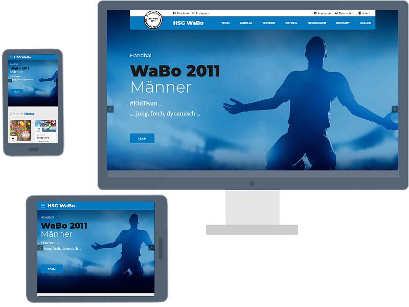 Webseite der Männer der HSG WaBo 2011